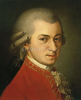 DGA574472 Austria, Portrait of Wolfgang Amadeus Mozart (1756 - 1791); (add.info.: Austria - 18th cen