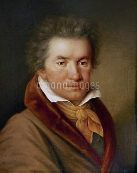 XAM79074 Ludwig van Beethoven (1770-1827) (oil on canvas) by German School, (19th century); Gesellsc