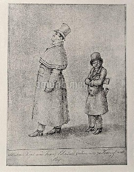 DGA572788 Austria, Vienna, Caricature of Austrian baritone singer Johann Michael Vogl and composer F