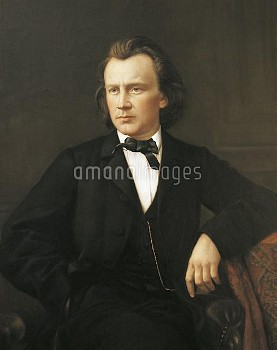 DGA767404 Portrait of Johannes Brahms (Hamburg, 1833-Vienna, 1897), German composer, pianist and con
