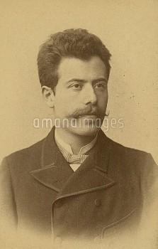 NYL1077429 Gustav Mahler, 1884 (b/w photo) by Austrian Photographer, (19th century); New York Public