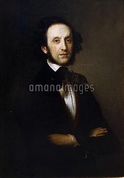 XPH330359 Felix Mendelssohn (oil on canvas) by Magnus, Eduard (1799-1872); Museum fur Geschichte de