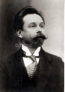 HGM80139 Portrait of Alexander Scriabin (1872-1915) (b/w photo); Haags Gemeentemuseum, The Hague, Ne
