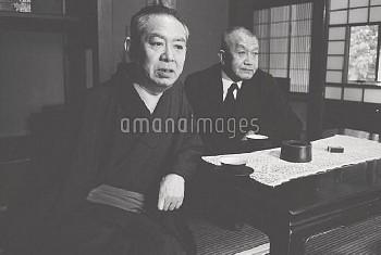 谷崎潤一郎 タニザキジュンイチロウ(左) 吉井勇 ヨシイイサム(右) 京都の谷崎邸にて