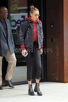 Gigi Hadid seen out in Manhattan on APRIL 17, 2017 in New York City, New York