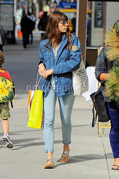 Jessica Biel seen out in Soho on APRIL 17, 2017 in New York City, New York