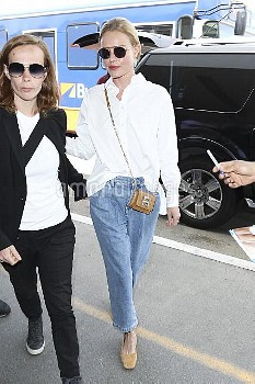 Kate Boswoth departing LAX airport in Los Angeles after spending the weekend at Coachella