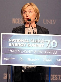Hillary Clinton Gives The Keynote Speech At The Nation Clean Energy Summit 7.0