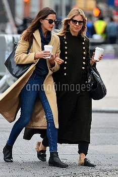 Exclusive... Sienna Miller & A Friend Step Out In NYC