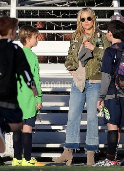 Kate Hudson Keeps Up With The Action At Her Son's Soccer Game