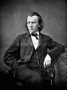 JOHANNES BRAHMS (1833-1897). German composer and pianist.