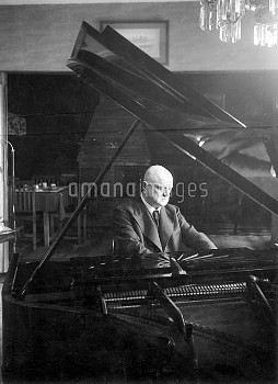 JEAN SIBELIUS (1865-1957). Finnish composer. Photographed in his country retreat, Villa Ainola, at J
