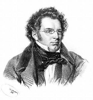 FRANZ SCHUBERT (1797-1828). Austrian composer. Lithograph by Joseph Kriehauber (1800-1876).