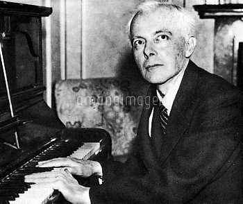BELA BARTOK (1881-1945). Hungarian composer.