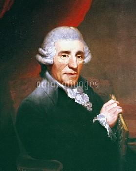 FRANZ JOSEPH HAYDN (1732-1809). Austrian composer. Oil on canvas, 1791, by Thomas Hardy.