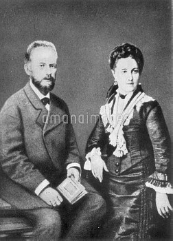 PETER ILICH TCHAIKOVSKY (1840-1893). Russian composer. Photographed with his wife Antonina Milyukova