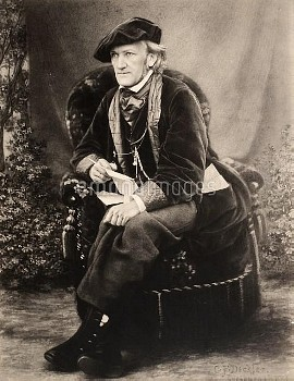 RICHARD WAGNER (1813-1883). German composer. Photographed c1868 at his villa, Triebschen, near Lucer