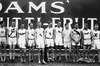 OLYMPIC GAMES, 1912. American Olympic team at the 5th Olympic Games, held in Stockholm, Sweden, in 1