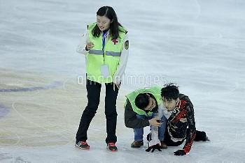 羽生結弦、フィギュアスケートGPシリーズ中国杯 本番直前で接触事故