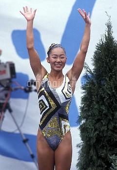 オリンピック  第25回バルセロナ大会(スペイン 1992年) 水泳/シンクロナイズドスイミング ソロ/奥野史子(JPN) クレジット:フォート・キシモト 1992年7月25日-8月9日  Olymp