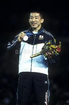 オリンピック  第27回シドニー大会(オーストラリア 2000年) レスリング グレコローマン 69kg級 表彰式 銀メダル 永田克彦 ダーリングハーバー/シドニー/オーストラリア クレジット:フォー