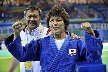 オリンピック 第29回オリンピック競技大会(2008/北京) 柔道 女子 70kg級  1位 上野雅恵(JPN) 北京科技大体育館/北京/中国 クレジット:フォート・キシモト 2008年8月13日