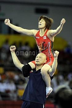 オリンピック 第29回オリンピック競技大会(2008/北京) レスリング 女子フリースタイル 48kg級  1位 吉田沙保里(日本) 中国農大体育館/北京/中国 クレジット:フォート・キシモト 200