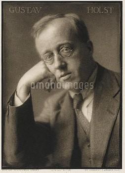 GUSTAV HOLST -  English composer and music  teacher.       Date: 1874 - 1934