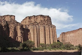 Eroded rock faces, Talampaya National Park, Argentina