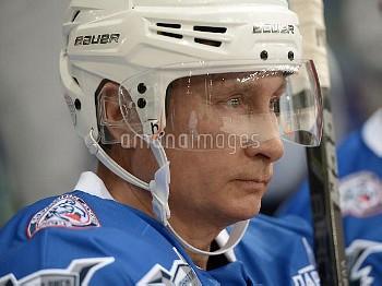 President Vladimir Putin during hockey match between Night Hockey League champions, board members an