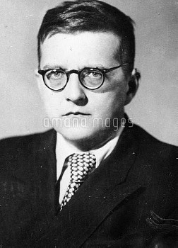 Russian Soviet composer, pianist and music teacher Dmitry Shostakovich