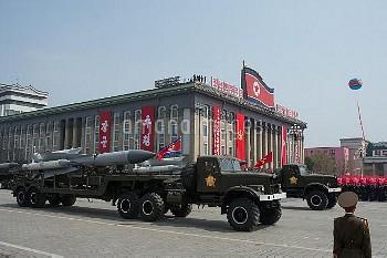 北朝鮮の軍事パレード Military parade in North Korea