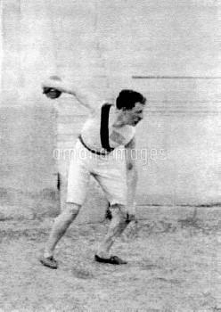 USA's Robert Garrett, gold medallist in the discus and shot put