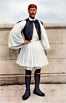 Greece's Spyridon Louis, who won gold, dressed in national costume