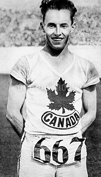Canada's Percy Williams, gold medallist in the 100m and 200m