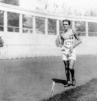 Italy's Ugo Frigerio, gold medallist in the 3km Walk and 10km Walk