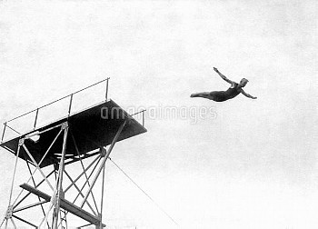 Sweden's Arvid Sandberg, bronze medallist in the high diving