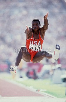 Carl Lewis, USA, gold medallist