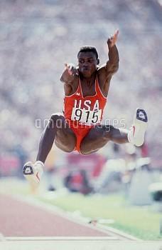 Carl Lewis, USA, gold medallist