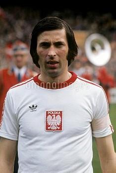 Kazimierz Deyna, captain of the Poland team.