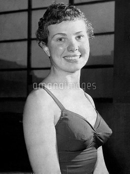 Elizabeth Ferris, who won a bronze medal in the Springboard Diving.