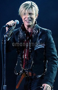 File photo dated 25/11/2003 of David Bowie who has been named the best-dressed Briton in history - b