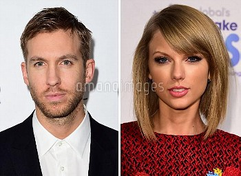 Undated file photos of Calvin Harris and Taylor Swift, who have knocked superstar couple Beyonce and