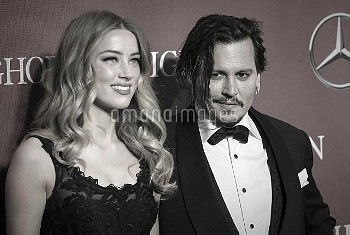 Amber Heard & Johnny Depp attending the 2016 Palm Springs International Film Fest Gala held at the P