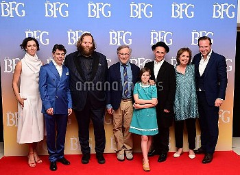 The Cast and crew of The BFG attending the UK Premiere of The BFG at Leicester Square, London.