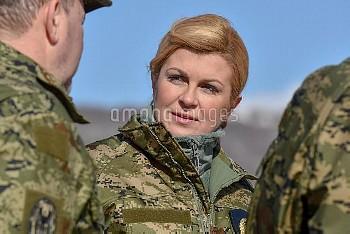 クロアチアのコリンダ・グラバルキタロビッチ大統領 08.02.2017., Udbina, Croatia - Croatian President Kolinda Grabar Kitarovic