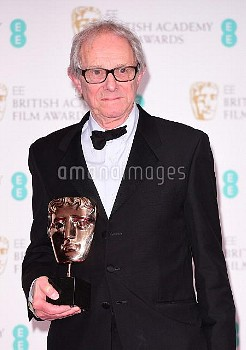 Ken Loach the with awards for Outstanding British Film for 'I, Daniel Blake' in the press room durin