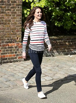 The Duchess of Cambridge during a reception for runners from Team Heads Together at Kensington Palac