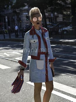 June 20, 2016 - Milan, Italy: Esther Quek outside the Fendi show during the Milan Men's Fashion Week