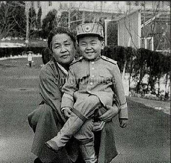 Undated - North Korea: Jong-nam  with his grandmother. Childhood photos of Kim Jong-nam eldest son o